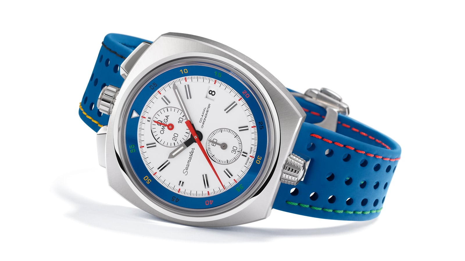 """Rio 2016"" Limited Edition watch by Omega with blue leather strap"