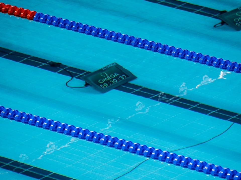 Lap Counter under the water in a swimming pool to count laps