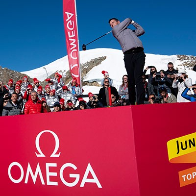 Rory McIlroy golf on top of the Jungfraujoch