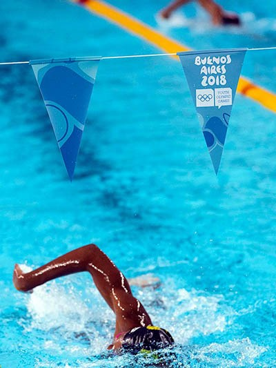 Swimmer at the youth olympic games