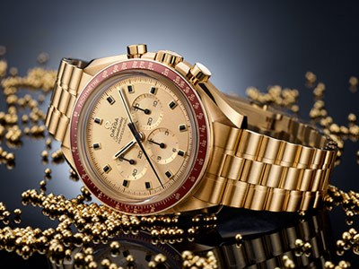 A Speedmaster in gold for Apollo 11