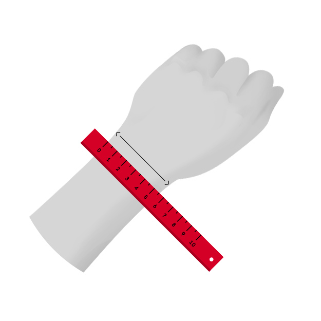 Wrist size measurement guide
