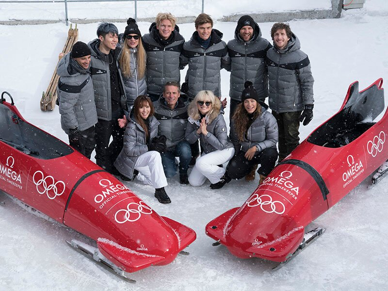Omega  gest stars behind  2 bobsleigh at the Olympic Winter Games in PyeongChang